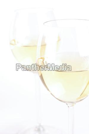 glass of white wine studio