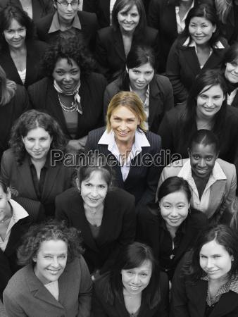 large group of multi ethnic businesswomen