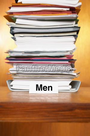 overflowing inbox for men