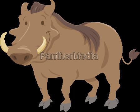 cartoon warthog animal character