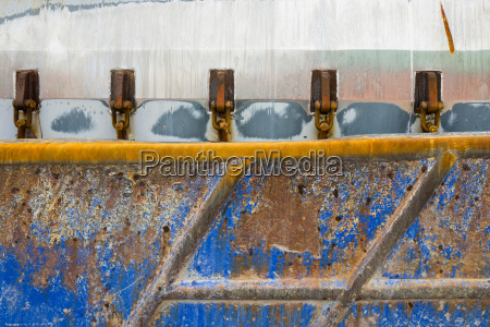 detail of a rusted boat