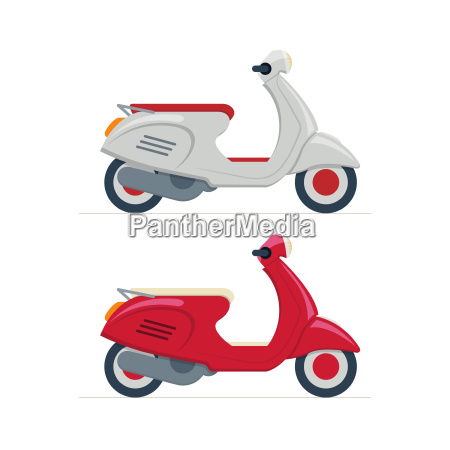 vector scooter illustration