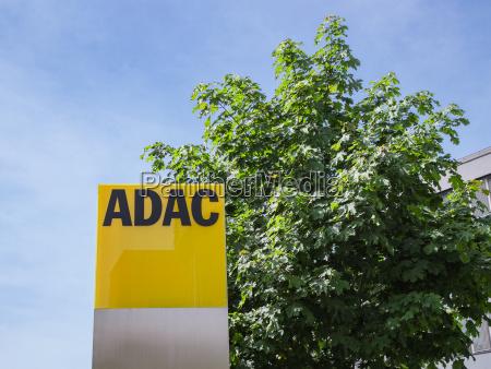 adac signage with german automobile club
