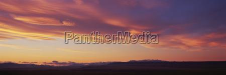 panoramic view of landscape against orange