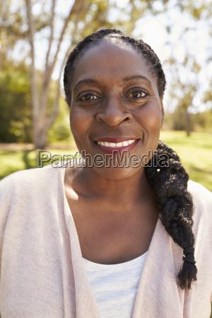 head and shoulders portrait of mature