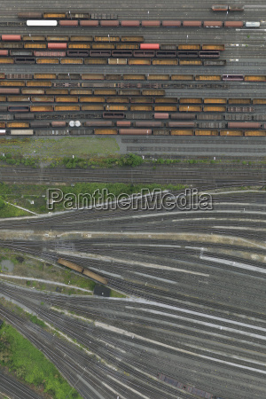 aerial, view, of, freight, train, carriages - 21596295