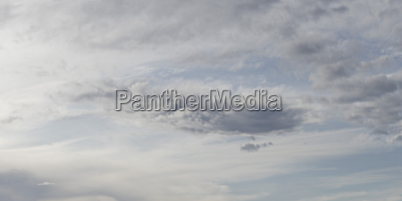 panoramic shot of cloudy sky
