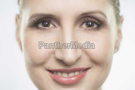 close up portrait of smiling mid