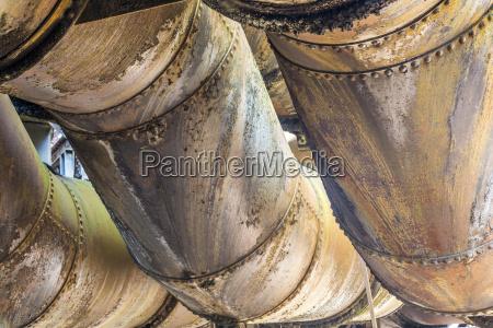 detail at volklingen ironworks in saar