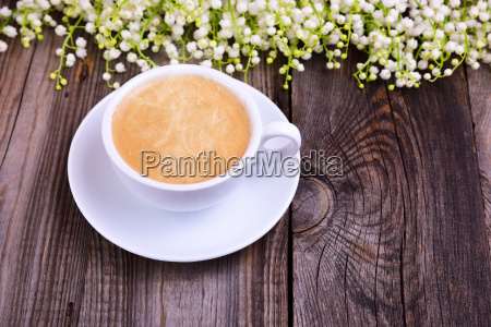 cup of hot black coffee on
