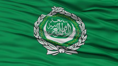 closeup arab league flag