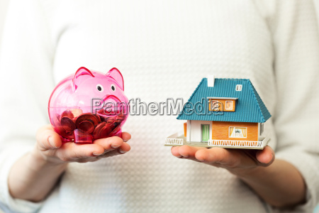 savings for new family house concept