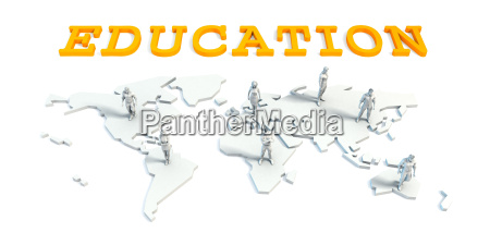 education concept with business team