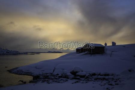 sunrise at a lofoten norway