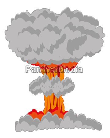 nucleus blast on white