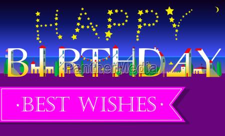 happy birthday best wishes unusual font