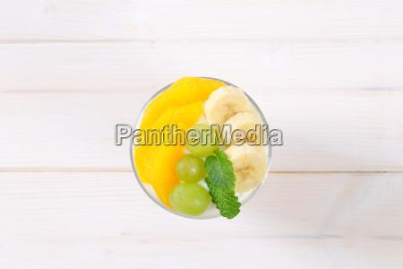 muesli with yogurt and fresh fruit