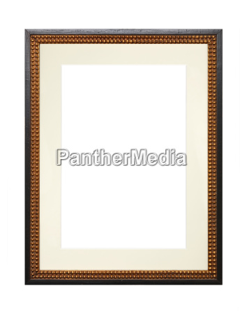vintage wooden picture frame with cardboard
