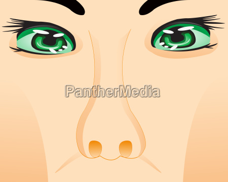 person with eye and nose