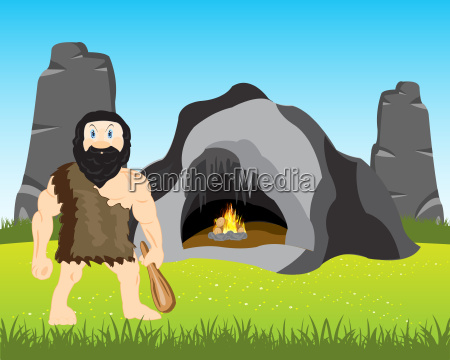 ancient person beside caves