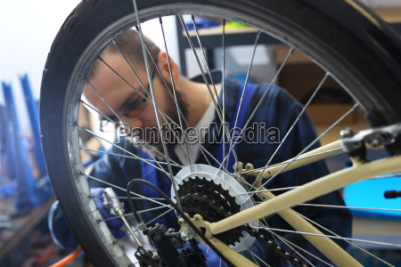 pumping the bicycle wheel pumping the