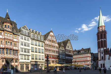 old traditional buildings in frankfurt at