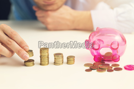 businessman counting money savings concept