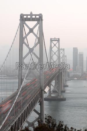san franciscos bay bridge close up