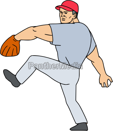 baseball player pitcher ready to throw
