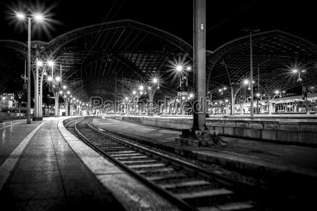 night shot on a platform
