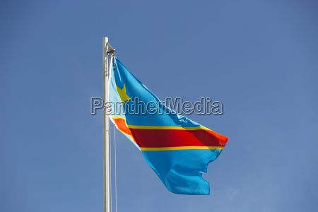 national flag of congo on a