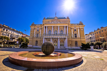 croatian national theater in rijeka square