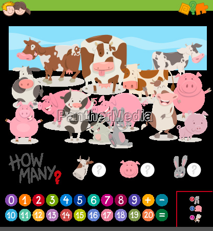 game of counting farm animals