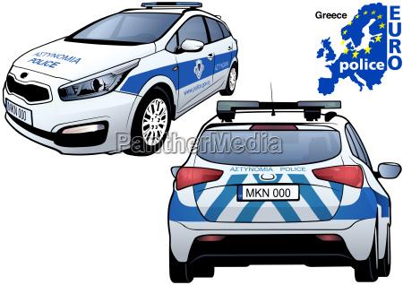 greece police car