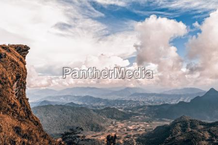 vintage style peak mountain