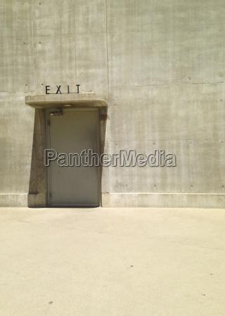 exit sign over door in hoover