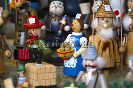 decorative christmas figures in detail