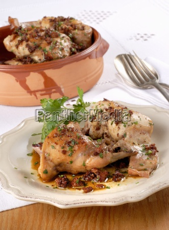 coniglio in umido stewed rabbit italy
