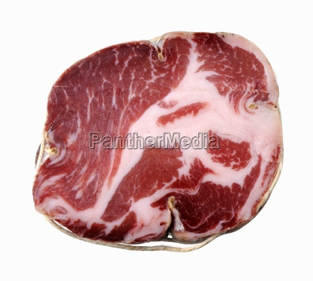 coppa dried meat italy