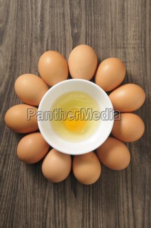 an egg yolk in a bowl