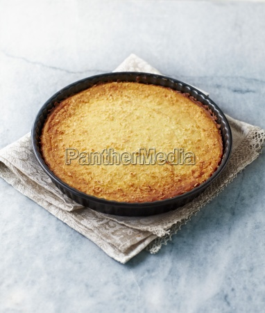 cheesecake with coconut flaces