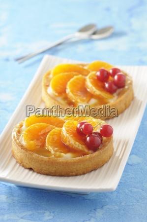 buckwheat tartlets with mandarins