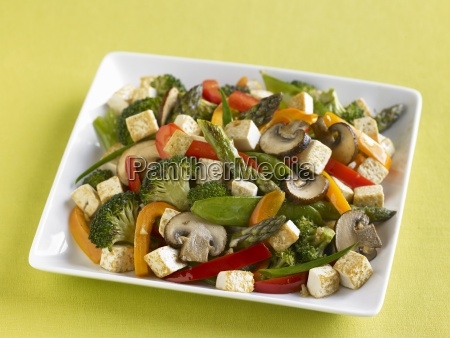 a vegetable dish with tofu and