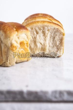milk bread rolls in the shape