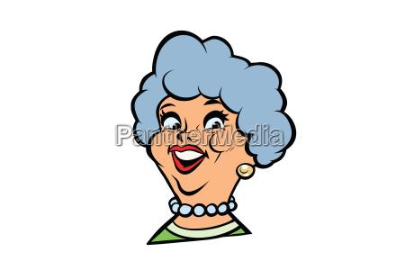 funny adult woman fashionable grandmother portrait