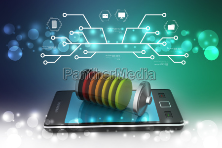 smart phone charging with battery