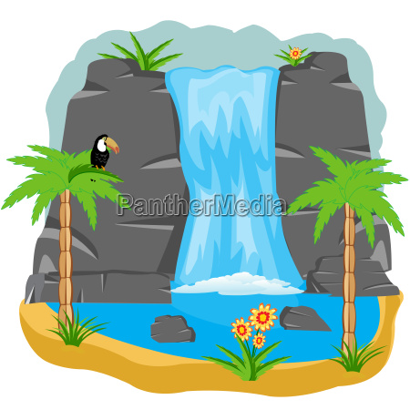 waterfall in tropic