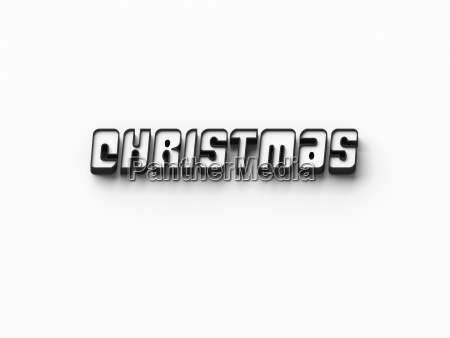 3d rendering words christmas