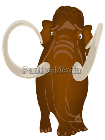 extinct prehistorical animal mammoth