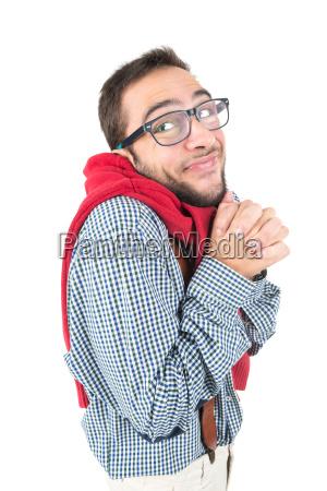 nerd posing